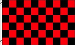 black red checkered flag 3x5 ft checker checkerboard pattern