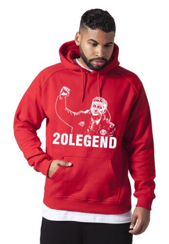 OLE Gunnar Solskjaer T Shirt Red Man United FELPA CON CAPPUCCIO CALCIO MANCHESTER