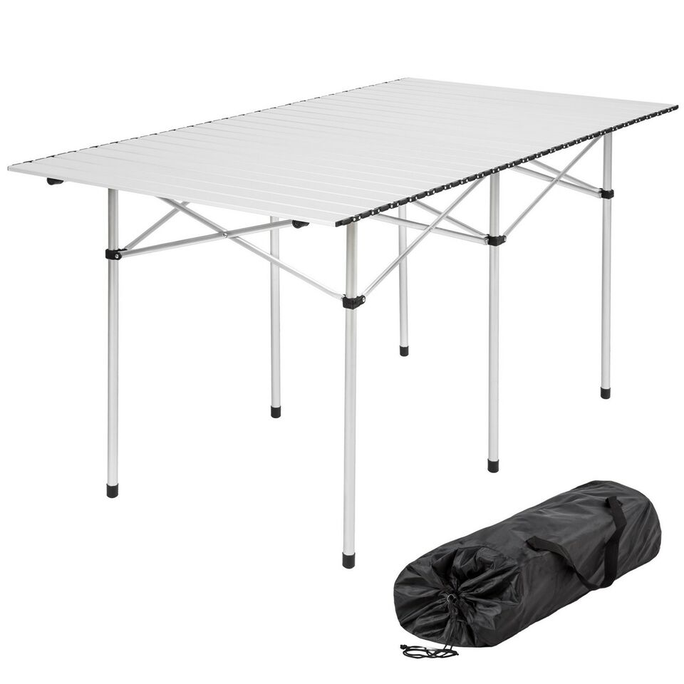 Campingbord Aluminium 140x70x70 cm foldbar