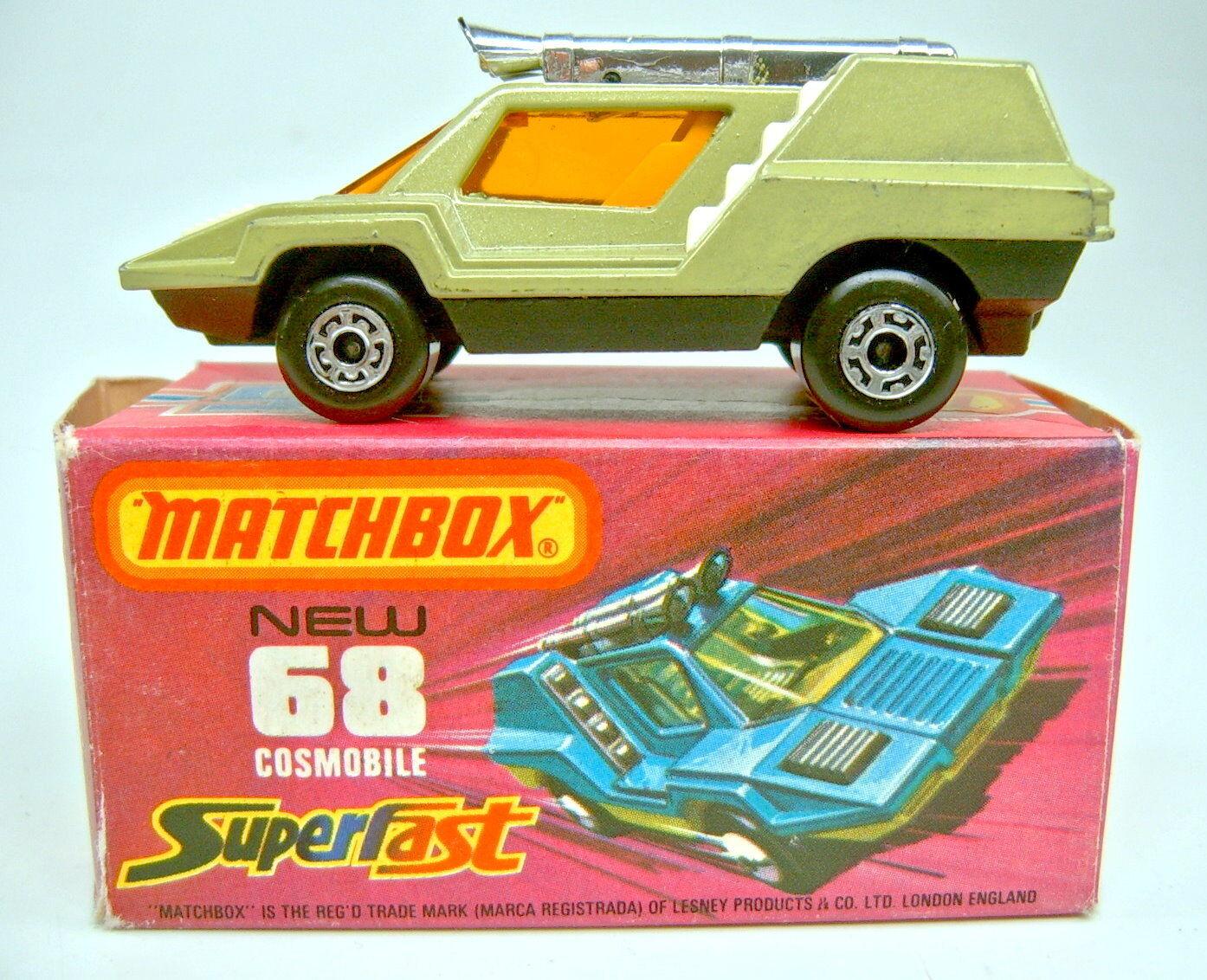 Matchbox SF Nr.68B Cosmobile avocado & black orange Scheibe whitee Einrichtung