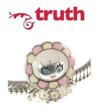 Genuine TRUTH PK 925 sterling silver & enamel FLOWER GIRL European charm bead
