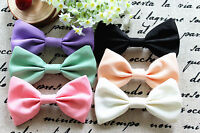 """4.5"""" New American Apparel Style Pastel Bow Hair Clip"""