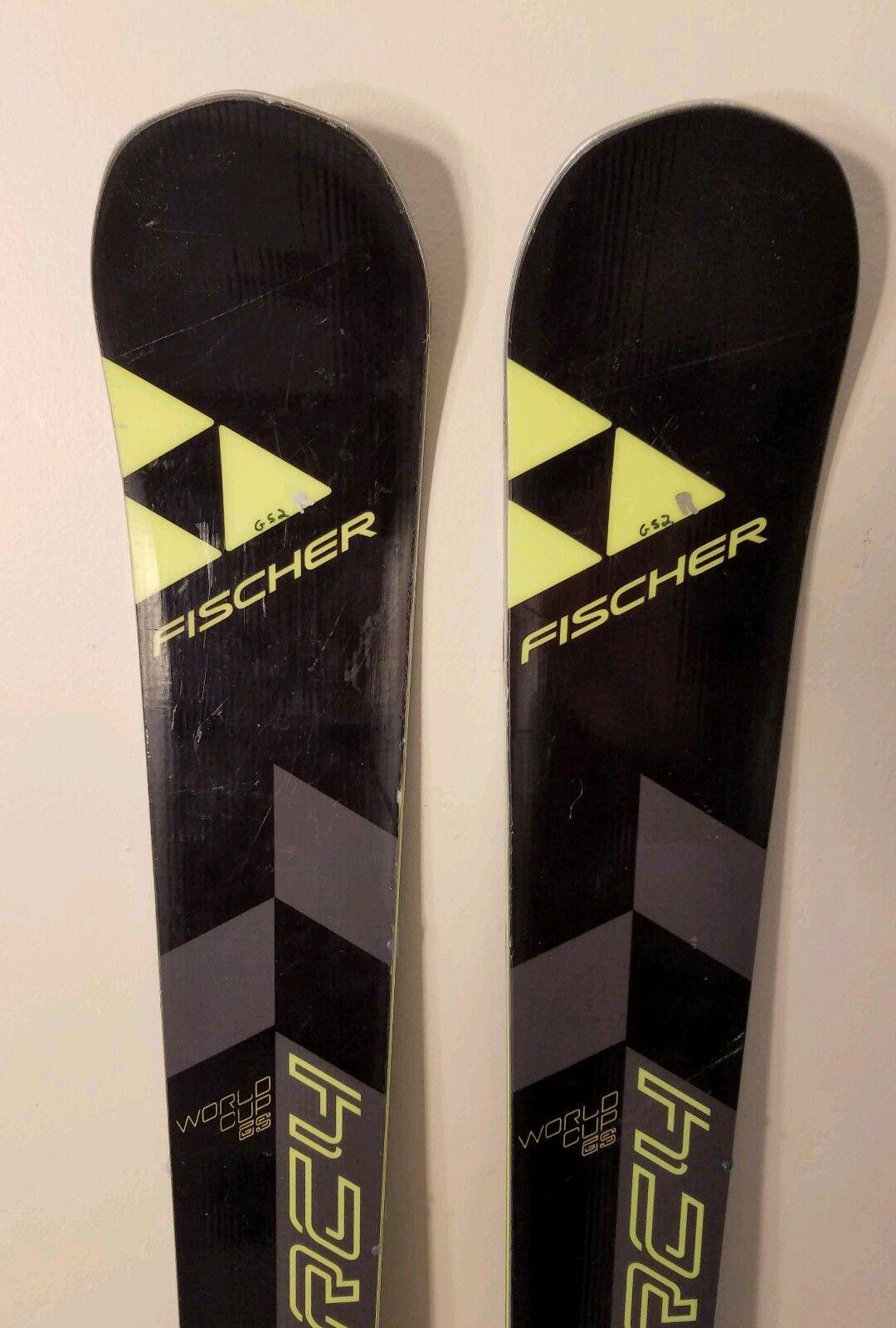 Fischer RC4 junior GS race skis 160cm worldcup race code