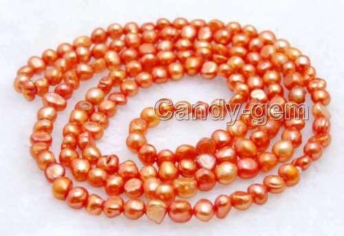 """Fashion naturel rouge 6-7 mm Perle Baroque Collier Long Pour Femmes 40/"""" nec6112"""