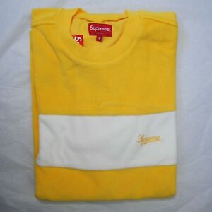 2a9071e7 Supreme Chest Stripe Terry Top Medium M Yellow Authentic Brand new ...