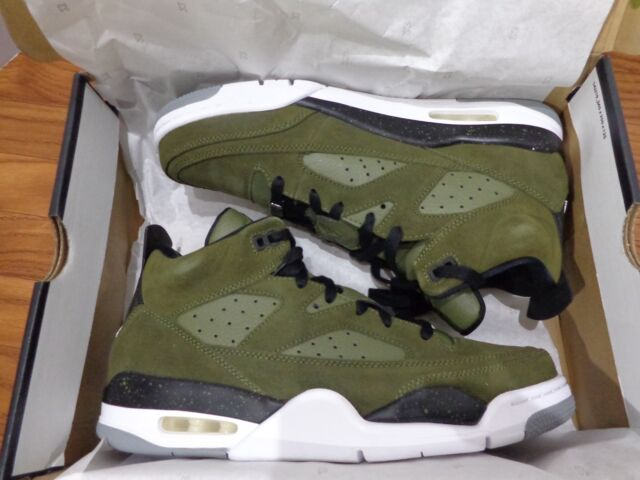 official photos f473c b8efe AIR JORDAN SON OF MARS LOW 580603 300 OLIVE CANVAS GREEN WHITE BLACK NEW
