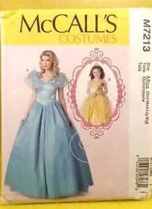 McCall-039-s-Costumes-M7213-Princess-Satin-Dress-Girl-Size-3-8-Woman-Women-Size-8-22