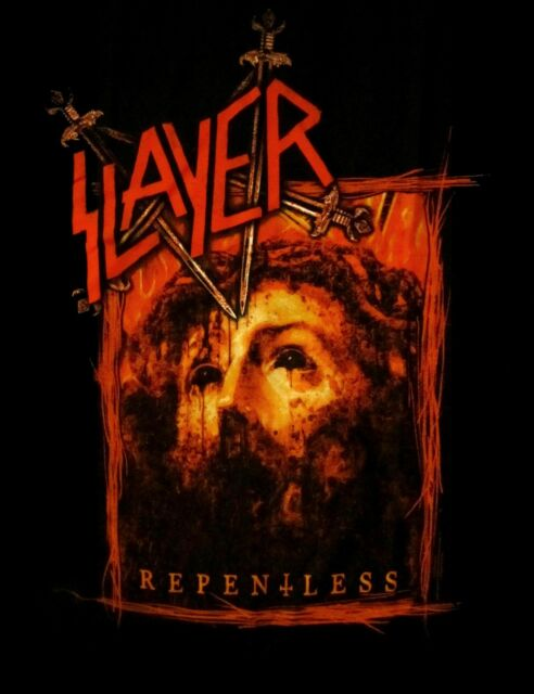 SLAYER cd cvr REPENTLESS - RECTANGLE Official SHIRT LRG new