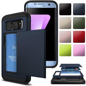 Wallet-Credit-Card-Holder-Slim-Shockproof-Cover-Case-For-Samsung-Galaxy-Phones