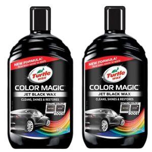 Turtle Wax Color Magic Car Paintwork Polish Restores Faded 2 x 500ml Black