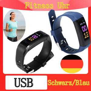 Fitness Uhr Bluetooth Smartwatch Armband Tracker Sport Schrittzähler Wasserdicht