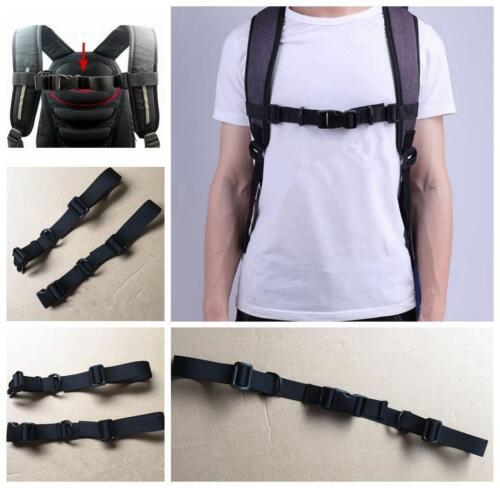 Adjustable Buckle Clip Strap Safety Polyester Chest Harness Bag Backpack N7