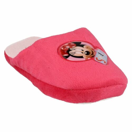 Disney Minnie Mouse WD8147 /'Smile/' Girls Pink Mule Slippers