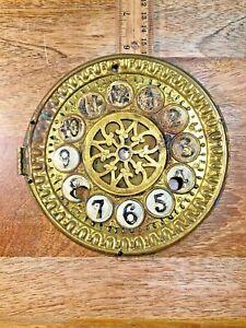 Old-5-3-4-034-Brass-Clock-Dial-Pan-Clock-Dial-Lot-K1477