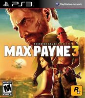 Ps3 Max Payne 3 Video Game Rated M Ages 17+