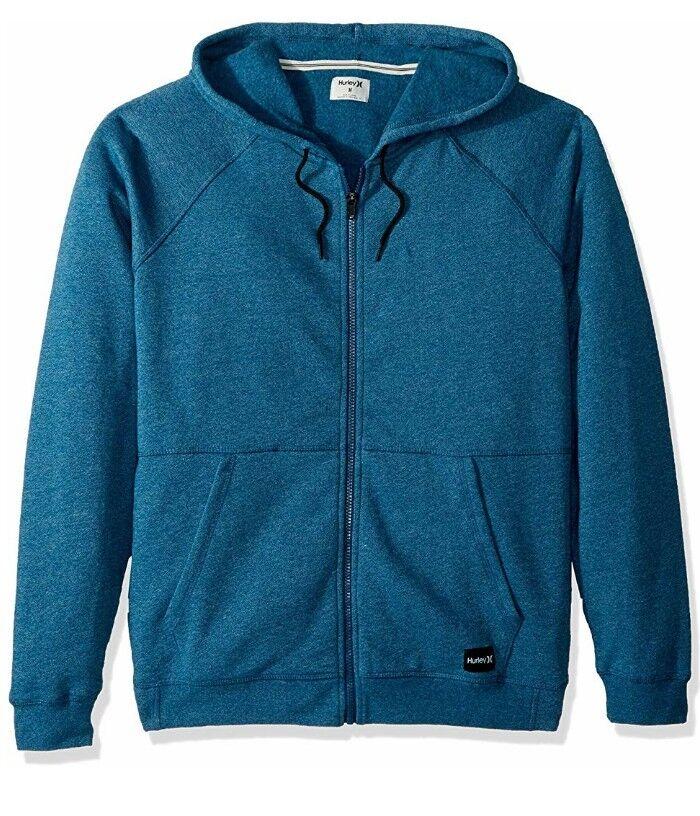 Hurley Crone Full Zip Hoody - Blau Force Heather - Größe XL NEW
