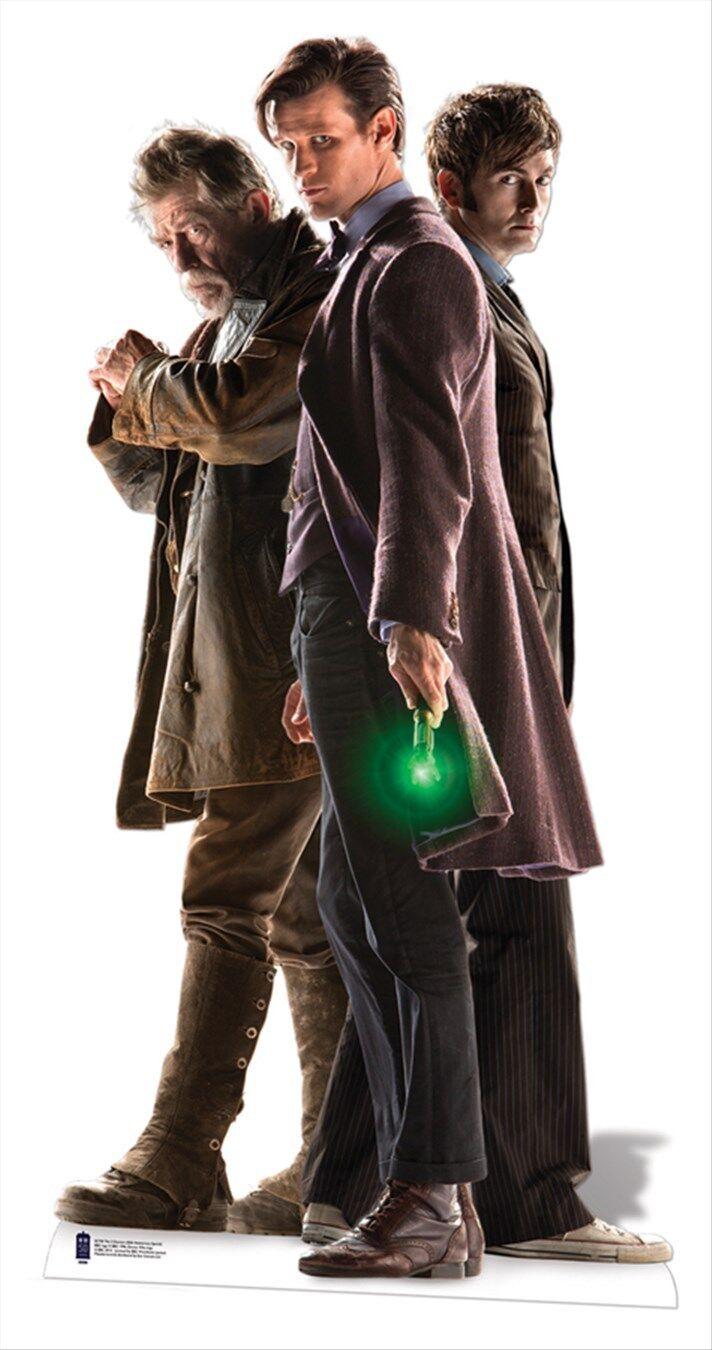 The Three Doctors LIFEGröße CARDBOARD CUTOUT War Dr Doctor Who 50th Anniversary