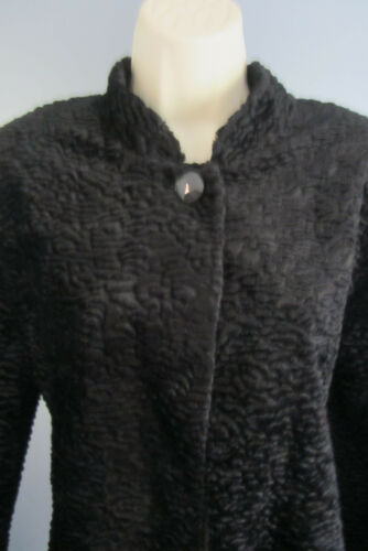 Alfred Dunner Evening Jacket Black Chenille Textur