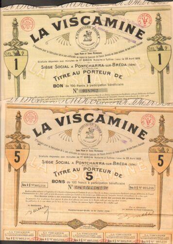 DECO =/> 2 titres ISERE 38 LA VISCAMINE PONTCHARRA-SUR-BREDA L