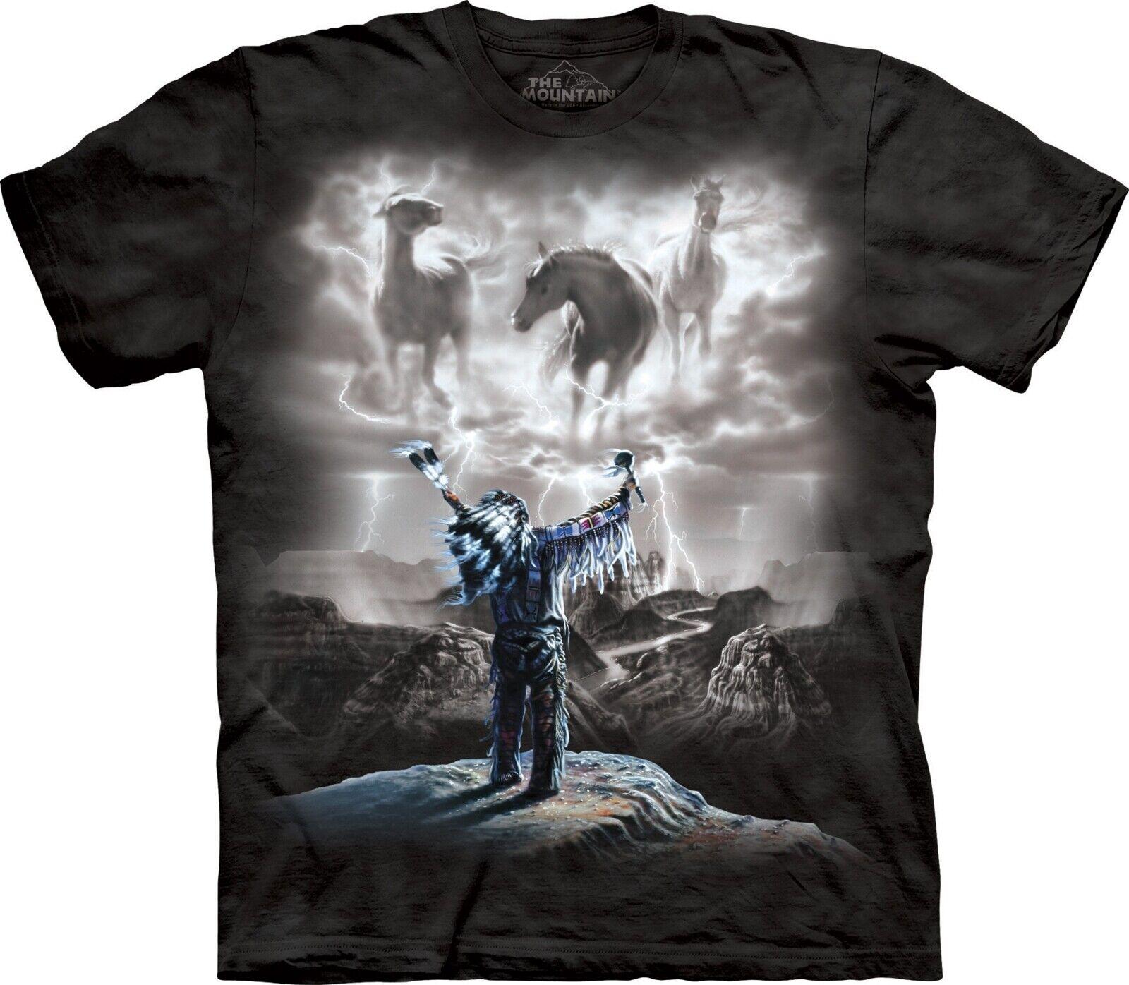Mountain Unisex Erwachsen Summoning  Storm Indianer T Shirt     | Deutschland Frankfurt  | Stabile Qualität  | Deutschland Store