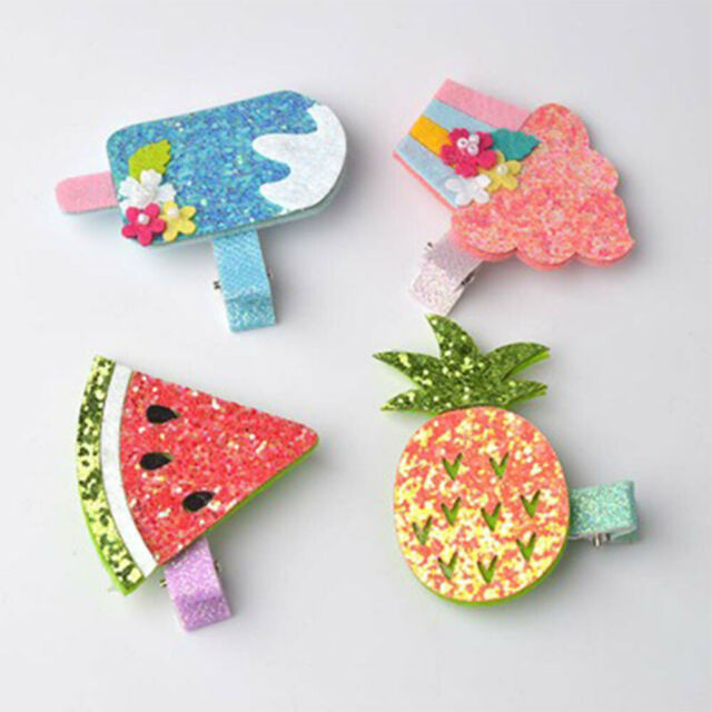 Cake Hair Clips Baby Girl Hair Accessories Kids Fruit Pattern Hair Clips