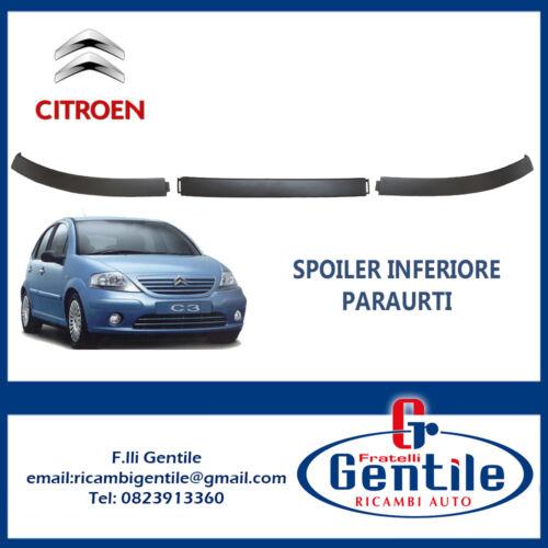 Citroen C3 2002-2005 KIT SPOILER SOTTO PARAURTI ANTERIORE COMPLETO 3 PEZZI