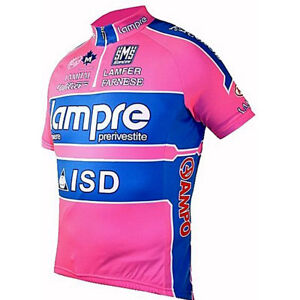 Image is loading Santini-Lampre-Pro-Cycling-Team-Short-Sleeve-Jersey- b0cb64fad