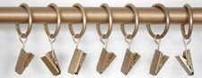 Anelli per Tende Con Clip per 19mm Aste in oro Affare confezione da 6 per