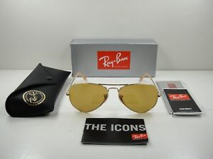 78e0c03045f Image is loading RAY-BAN-AVIATOR-EVOLVE-SUNGLASSES-RB3025-90644I-GOLD-