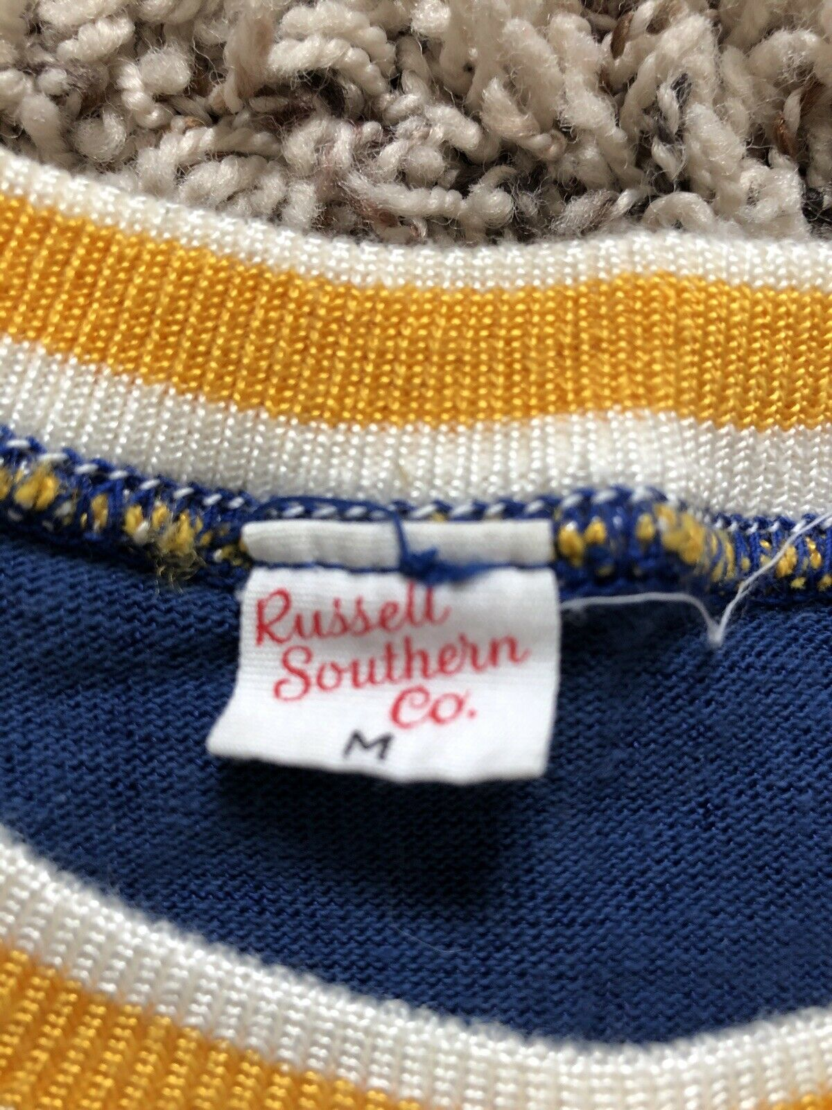 Vintage 50s 60s Ringer College Shirt Russell Sout… - image 5