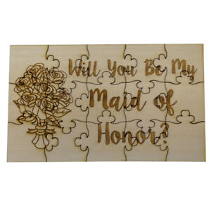 Will-You-Be-My-Maid-of-Honor-Jigsaw-Puzzle-15-Pieces-Flowers-Wood-Wedding-Party