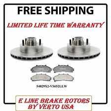 Set of 2 Front Disc Brake Rotor 285 mm O/D  & Set of Pads  Limited Life Time