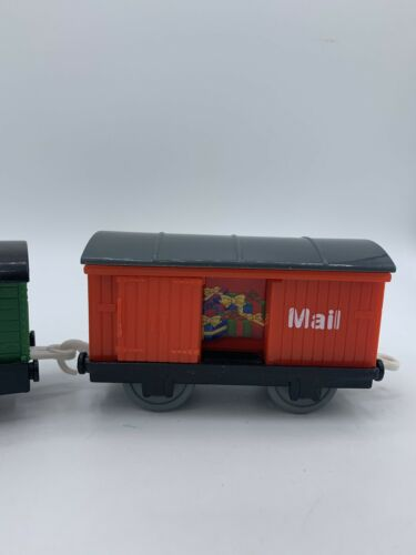 Details about  /Thomas Train /& Friends Trackmaster Sodor Mail Cars Red Images /& Green Speed Post