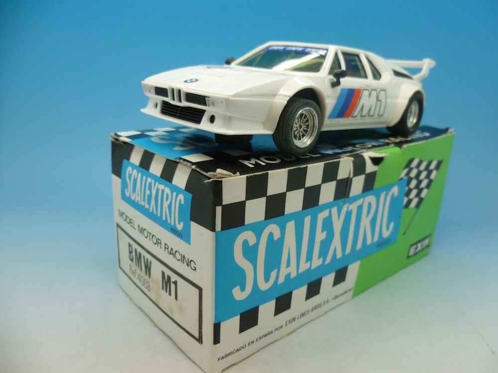 Scalextric 4063 BMW M1, totally mint appears unused, boxed with instructions