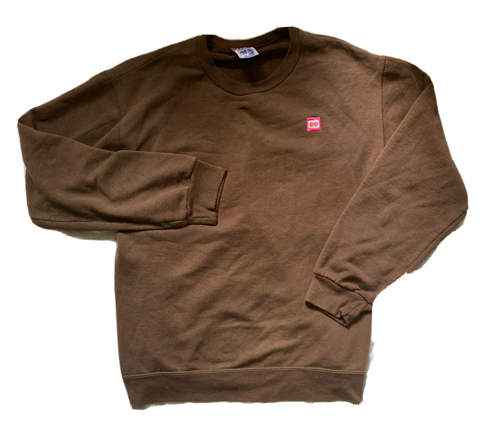 Pre-Owned Retired Extra Large Dunkin Donuts Employee Uniform Brown Sweatshirt DD