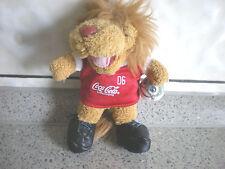 """FUSSBALL WM 2006-""""SOMMERMÄRCHEN""""-MASKOTTCHEN GOLEO-mit Coca Cola-12,5 cm hoch..."""
