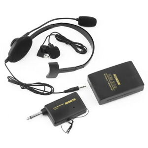 VHF-Stage-Wireless-Lavalier-Lapel-Headset-Microphone-System-Mic-FM-Transmitter