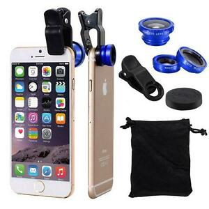 3 in1 Lens Kit Universal Cell Phone Clip-on Wide Angle Fish Eye Macro Camera Y