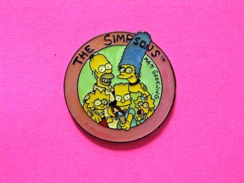 THE SIMPSONS VINTAGE OFFICIAL1990 ENAMEL PIN  BART LISA HOMER UK IMPORT