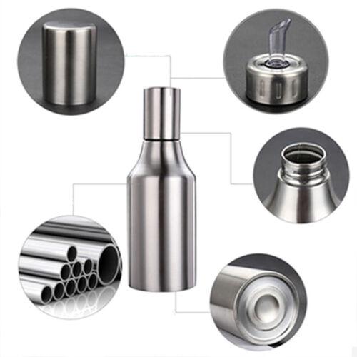 Kitchen Stainless Steel Oil Bottle Dispenser Vinegar Olive Edible Container Pot