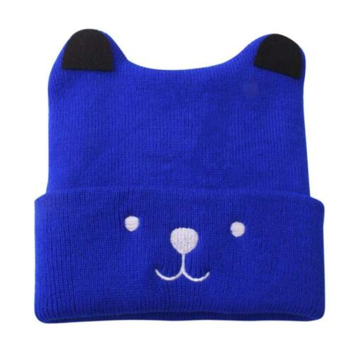 Toddler Kids Girls Boys Baby Cartoon Bear Warm Crochet Knit Hat Beanie Cap Hat