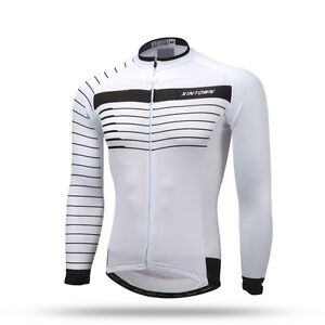 4e967c577 Image is loading White-Black-Long-Sleeve-Sportswear-Team-bike-Cycling-