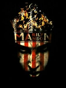 MARILYN MANSON cd lgo CROWN Official SHIRT LRG New OOP