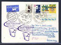 58653) LH FF Frankfurt - Windhoek Namibia 28.10.96 card feeder mail Israel