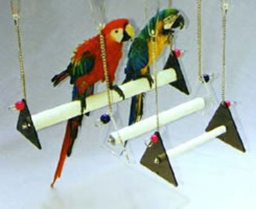 JUMBO PARROT BIRD SWING for CAGE AVIARY INDESTRUCTABLE PERCH TRIMS BEAKS  NAILS