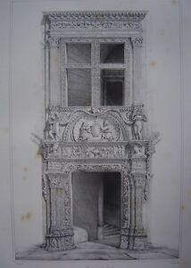 Lithographie-de-la-Maison-de-M-Dupre-a-VALENCE-Valencia-c1840