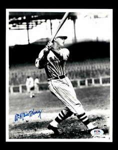 Bill Terry PSA DNA Coa Hand Signed 8x10 Photo Autograph