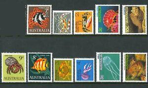 Australia-1966-1984-Marine-Life-Stamps-SET-11x-1c-10c-1st-2nd-3rd-Series-Issues