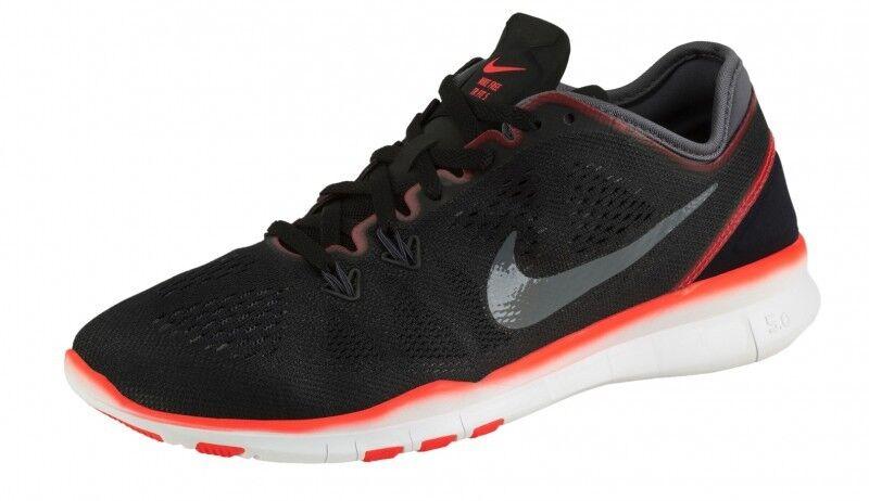 Nike Damen FLYWIRE Sport Freizeit Laufschuhe NIKE FREE 5.0 TR FIT 5 Schwarz Rot