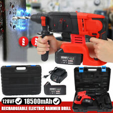 4 Modes Brushless Electric Rechargeable Cordless Rotary Hammer Drill Perforator